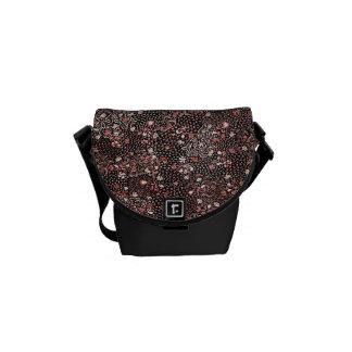 Indonesian Red Flowers Batik Messenger Bag