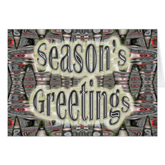 Industrial Abstract Black & Red Season's Greetings Card
