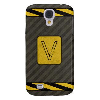 Industrial Grunge Monogram Galaxy S4 Case