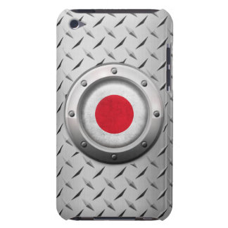 Industrial Japanese Flag with Steel Graphic iPod Touch Case-Mate Case