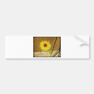 Industrial Sunflower Bumper Sticker