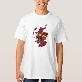 indyref# Tartan Scotland Aye Map T-Shirt