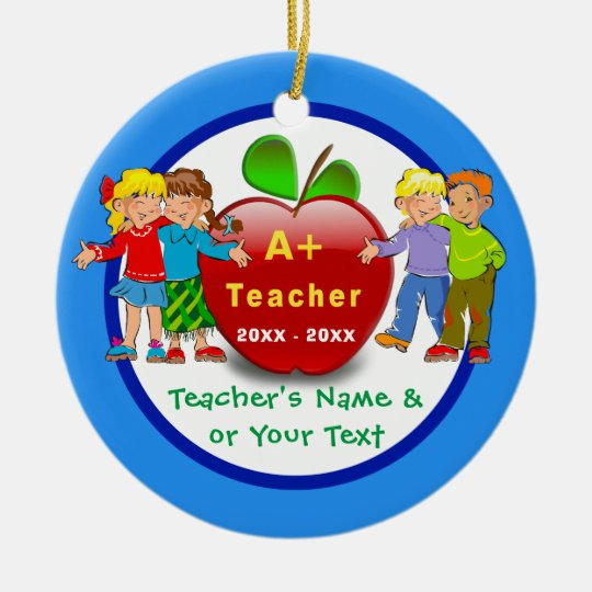 inexpensive 2 Sided Teacher Ornaments Personalised
