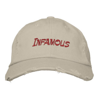 Infamous Web Series Embroidered Cap Embroidered Baseball Caps