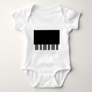Infant Creeper - Piano Keyboard black white