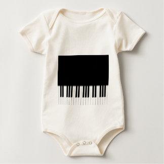 Infant Organic Creeper -Piano Keyboard black white