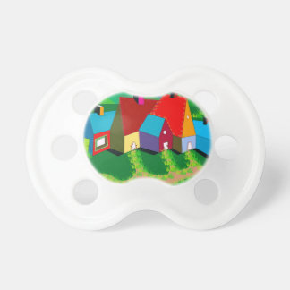 Infant Pacifier with Folk Art