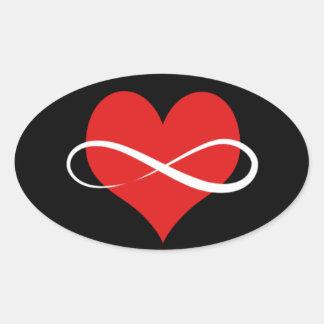 Infinite Heart Oval Sticker