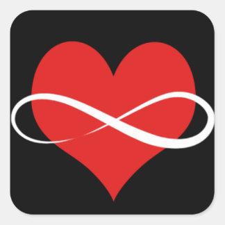 Infinite Heart Square Sticker