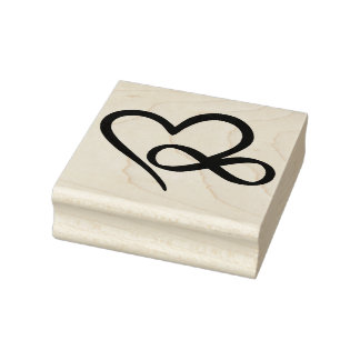 Infinity Heart Rubber Stamp