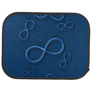 Infinity on Dark Blue Car Mat