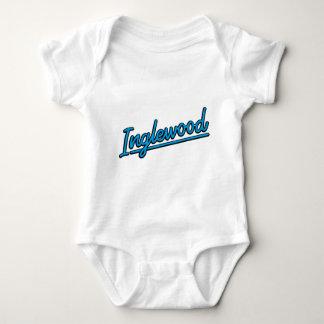 Inglewood in cyan baby bodysuit