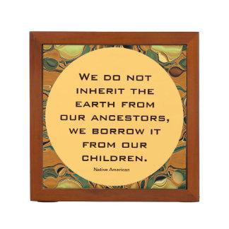 Inherit the earth desk organiser