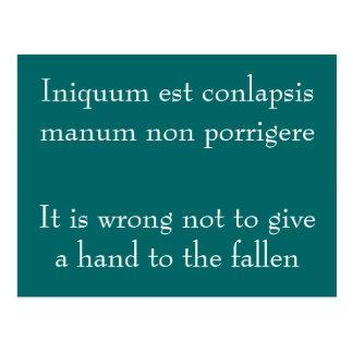 Iniquum est conlapsis post cards