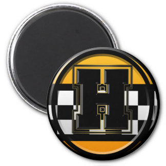 Initial H taxi driver 6 Cm Round Magnet