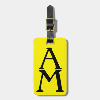 Initial Impression Yellow Bag Tag