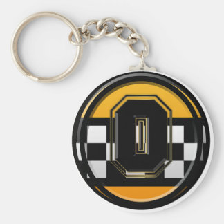 Initial O taxi driver Basic Round Button Key Ring