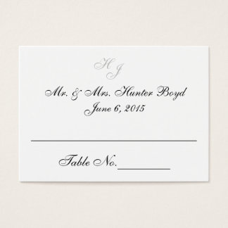 """Initials"" Place Cards"