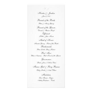 """Initials"" Wedding Programs Rack Card"