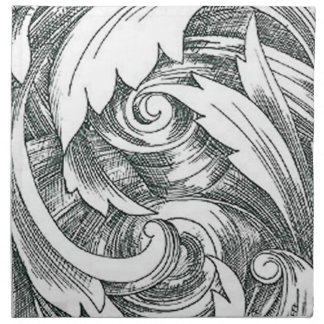 Ink Art Swirl Napkins