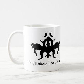 Ink blot coffee mug