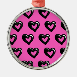 Ink hearts christmas ornament