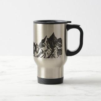 Ink Mountain Drawing Travel Mug