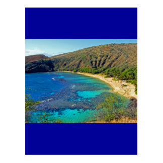 Inland, Hanauma Bay 4, Honolulu, Oahu Postcard