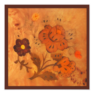 Inlay Flowers Autumn Save the Date Card
