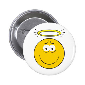 Innocent Angel  Smiley Face 6 Cm Round Badge