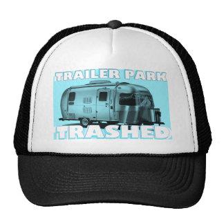 "InnovativDezynz's ""BLU TRAILER PARK TRASHED"" Caps Cap"