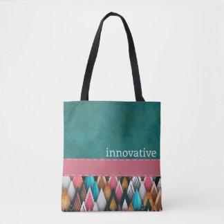 INNOVATIVE - Teal, Salmon, Pink - Handbag