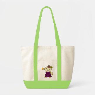 inparusutoto stick child purple tote bag