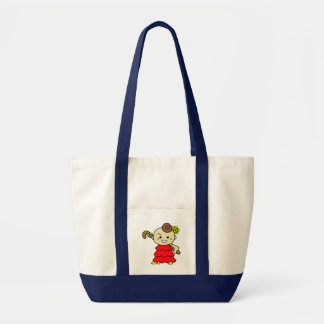 inparusutoto stick child red tote bag