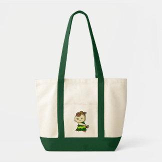 inparusutotopari child green tote bag