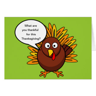 Inquisitive Turkey Thanksgiving Card