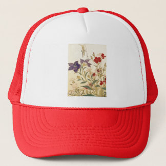 Insects and Flowers by Utamaro Trucker Hat