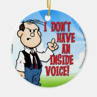Inside Voice Christmas Ornament