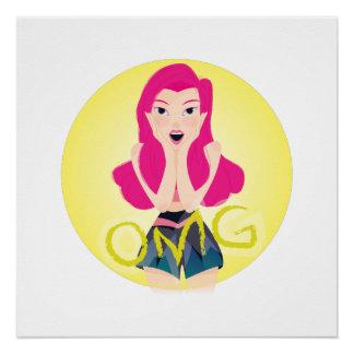 Inspiration Illustration: OMG Girl Poster