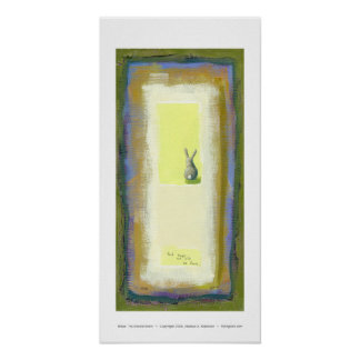 Inspirational art we will be fine rabbit painting posters
