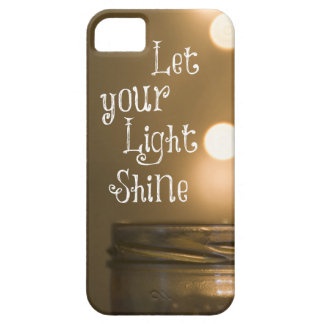 Inspirational Bible Verse Let your light shine iPhone 5 Cover
