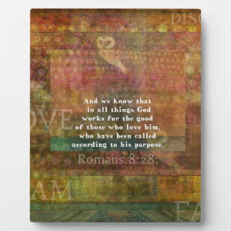 Inspirational Bible Verse Plaque