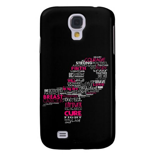 Inspirational Breast Cancer Awareness Ribbon Samsung Galaxy S4 Cases