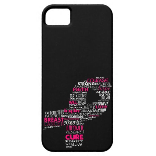 Inspirational Breast Cancer Awareness Ribbon iPhone 5 Covers