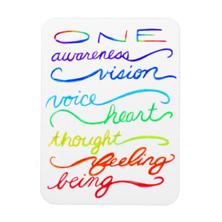 Inspirational Chakra Themed Rainbow Words Magnet