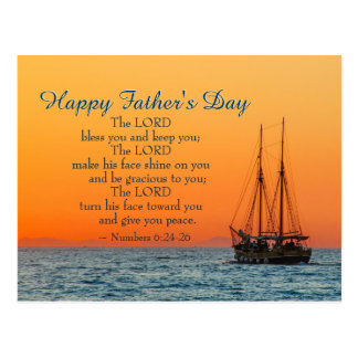 Inspirational Father's Day, The Lord Bless You Postcard