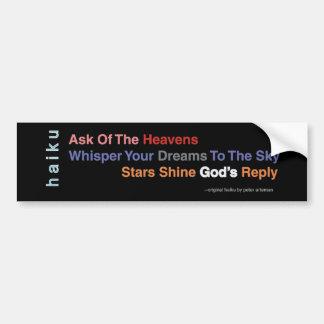 Inspirational Haiku Bumper Sticker