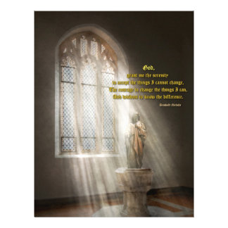 Inspirational - Heavenly Father - Senrenity Prayer 21.5 Cm X 28 Cm Flyer