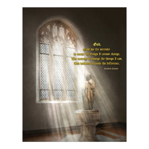 Inspirational - Heavenly Father - Senrenity Prayer Flyers