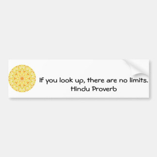 inspirational Hindu Proverb from India Bumper Sticker